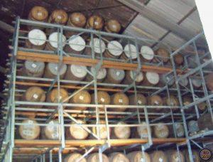 almacenes de barricas-Elaboración del whisky