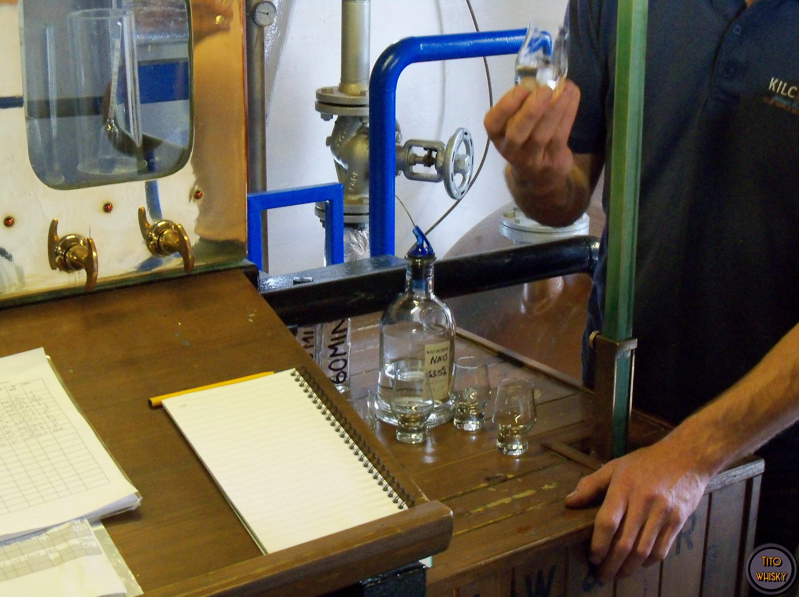 Spirit recién destilado en Kilchoman-Elaboración del whisky