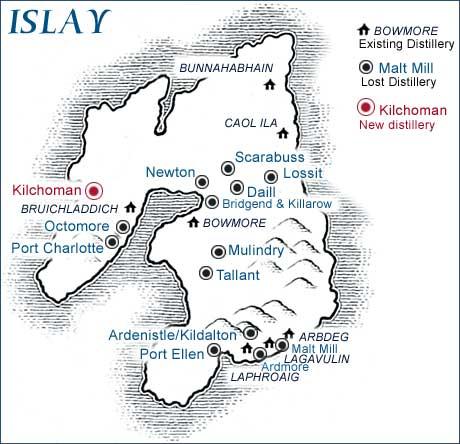 Destilerías de Islay cerradas