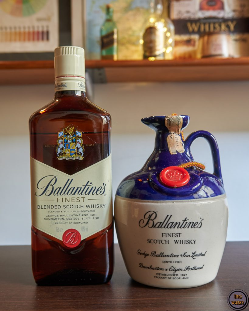 Ballantine's finest-whisky antiguo